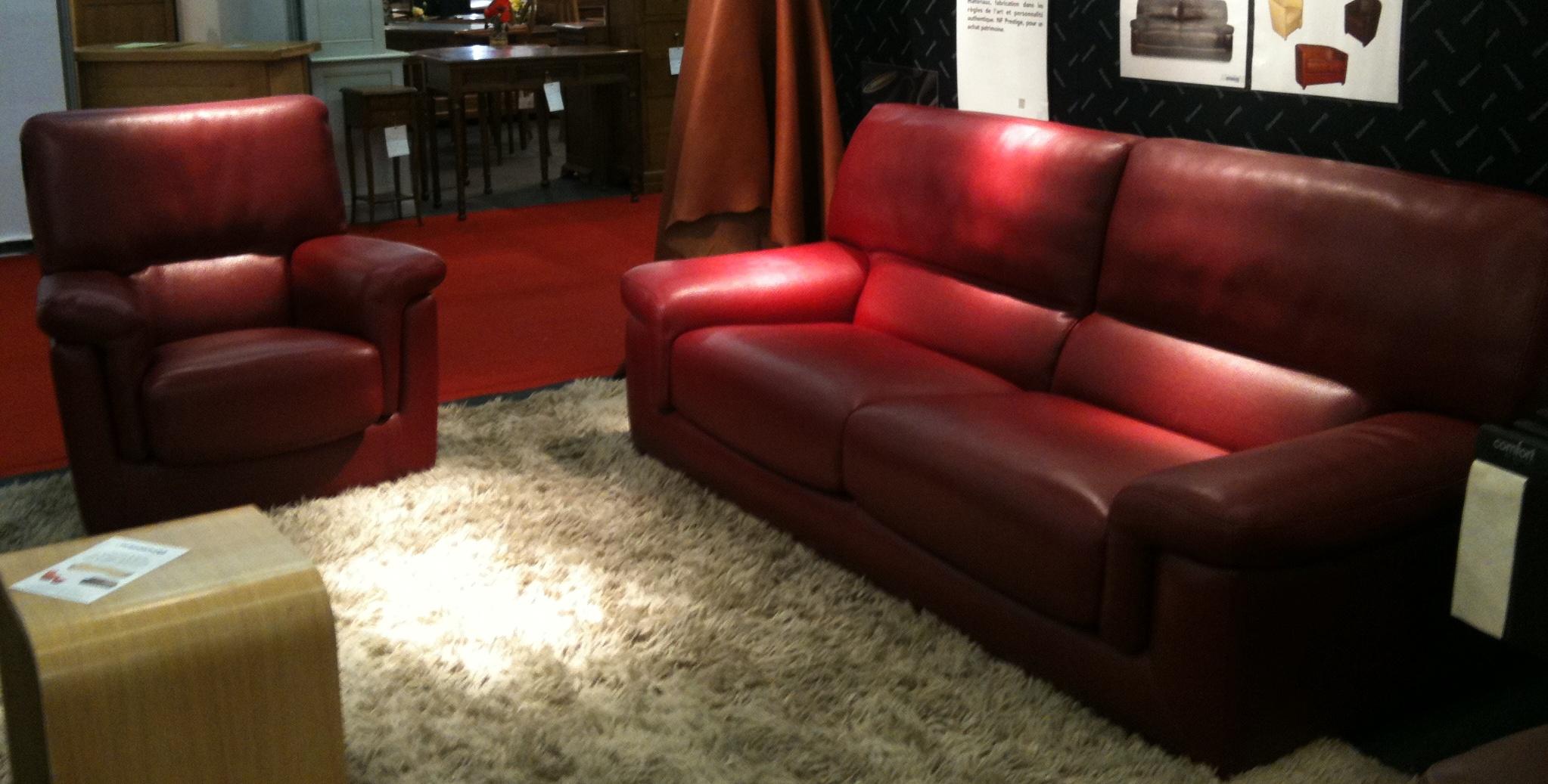 Thasos petit fauteuil canap 3 places et cabriolet sonate l 39 album phot - Canape cuir bordeaux ...