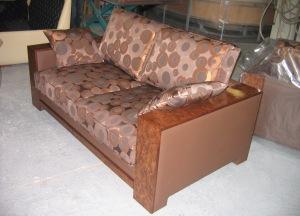 MERLIN canapé cuir et tissu
