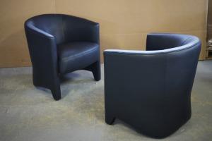AUSTIN fauteuils coloris bleu marine sans capitonnage