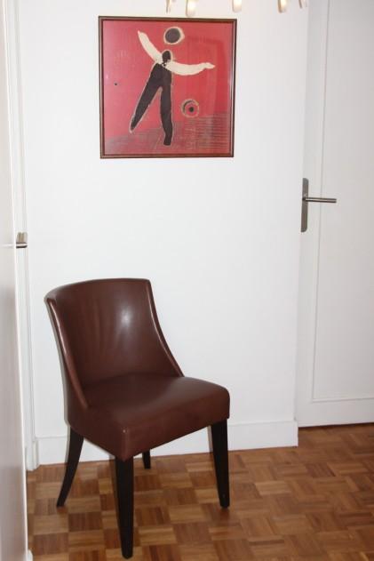 JANDRI Chaise base arrondie cuir