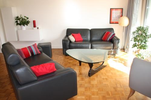 SWANN ATHENA canapés anthracite et MAROUA fauteuil gris moyen (2)