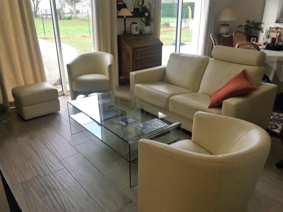 BORA canapé AUSTIN fauteuil Cuir vanille (1)